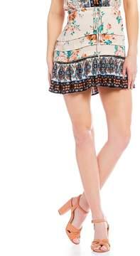 Chelsea & Violet C&V Coordinating Floral Mini Skirt