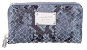 MICHAEL Michael Kors Embossed Zip Wallet