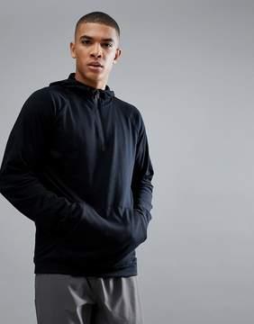 New Look SPORT Hoodie With Zip In Black