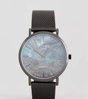 Reclaimed Vintage Inspired Utility Marble Mesh Watch In Black Exclusive To ASOS