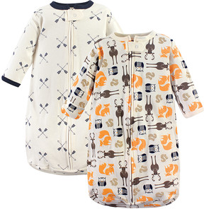 Hudson Baby Ivory Forest & Arrow Long-Sleeve Sleeping Bag Set - Newborn