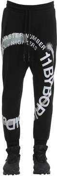 11 By Boris Bidjan Saberi Wheel Printed Cotton Jersey Sweatpants