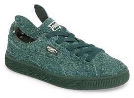 Puma Boy's X Tinycottons Basket Furry Sneaker