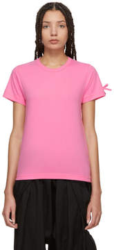Comme des Garcons Pink Bow Sleeve T-Shirt