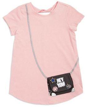 Jessica Simpson Girl's Purse Bag Print Tee