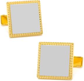 Co Ox and Bull Trading Two Tone Square Cufflinks.
