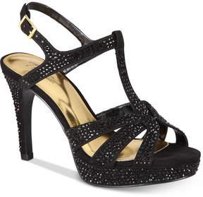 Thalia Sodi Verrda2 Embellished Platform Dress Sandals, Created for Macy's Women's Shoes