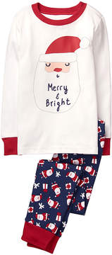 Gymboree Navy Santa Faces Hoho Pajama Set - Infant, Toddler & Boys