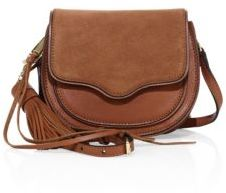 Rebecca Minkoff Suki Mini Leather & Suede Saddle Crossbody Bag