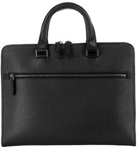 Salvatore Ferragamo Men's Black Leather Briefcase.