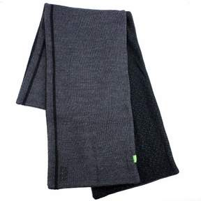 HUGO BOSS Men's Knit Fleece Dark Grey Winter Scarf