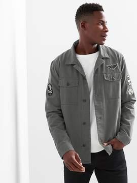 Gap Patch fatigue shirt jacket