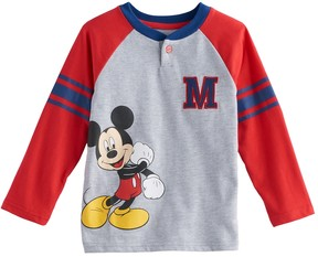 Disney Disney's Mickey Mouse Toddler Boy Raglan Henley