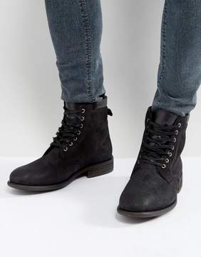 Aldo Derrian Leather Lace Up Boots In Black