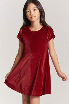 Forever 21 Girls Velvet Skater Dress
