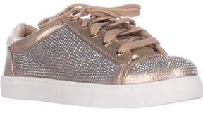 Material Girl Mg35 Melanie Flat Lace-up Fashion Sneakers, Bronze.