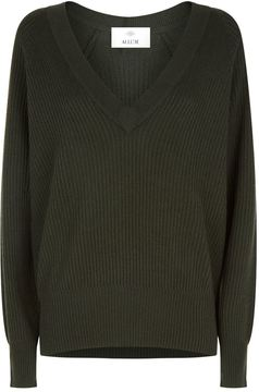 Allude V-Neck Knitted Sweater