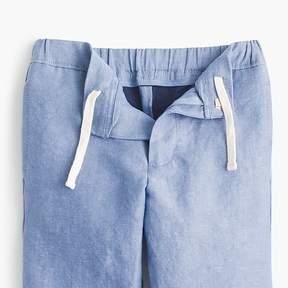 J.Crew Boys' pull-on Ludlow suit pant in Irish linen