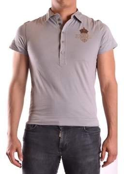 Richmond Men's Grey Cotton Polo Shirt.