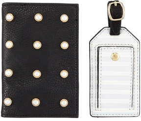 Neiman Marcus Pearly Passport and Luggage Tag Set