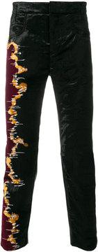 Haider Ackermann panelled skinny trousers