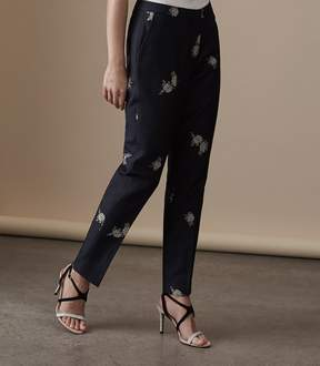 Reiss Fauna Trouser Embroidered Trouser