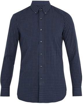 Boglioli Single-cuff checked cotton shirt