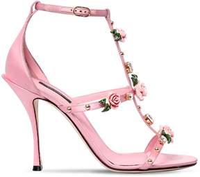 Dolce & Gabbana 105mm Keira Embellished Satin Sandals
