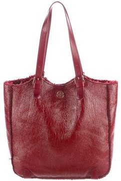 Tory Burch Patent Leather Tote - RED - STYLE