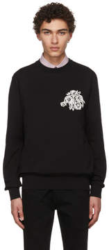 Givenchy Black Jacquard Flower Sweater