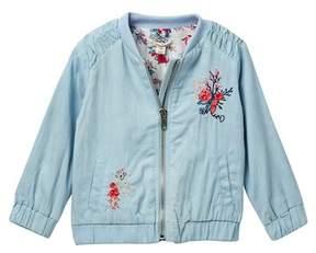 Jessica Simpson Embroidered Denim Bomber Jacket (Baby Girls)