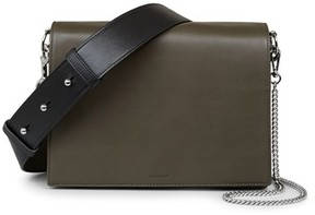 AllSaints Zep Lambskin Leather Box Bag - Brown