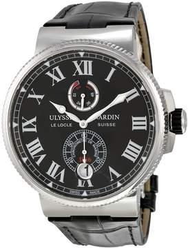 Ulysse Nardin Marine Chronometer Black Dial Automatic Men's Watch 1183-122-42-V2