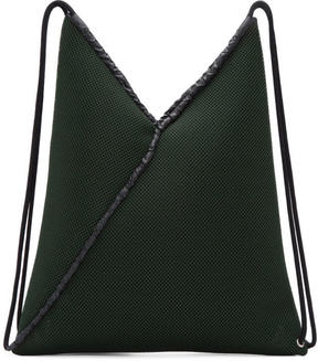 MM6 MAISON MARGIELA Green Mesh Drawstring Backpack