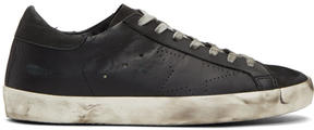 Golden Goose Deluxe Brand Black Perforated Skate Superstar Sneakers