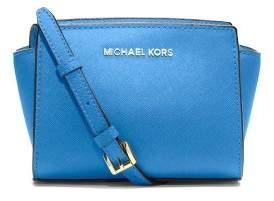 MICHAEL Michael Kors Selma Mini Heritage Blue Saffiano Leather Messenger Bag - ONE COLOR - STYLE