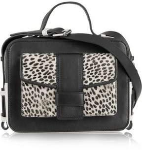 Sandro Alexa Cheetah-Print Calf Hair And Leather Shoulder Bag