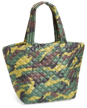MZ Wallace 'Medium Metro - Camo' Quilted Oxford Nylon Tote - Green