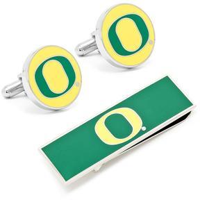 Ice University of Oregon Ducks Cufflinks and Money Clip Gift Set