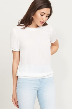 Dynamite Sheer Crew Neck Top