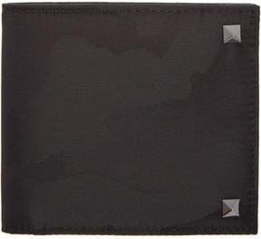 Valentino Black Garavani Camo Rockstud Wallet