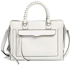 Rebecca Minkoff Medium Bree Leather Satchel - WHITE - STYLE