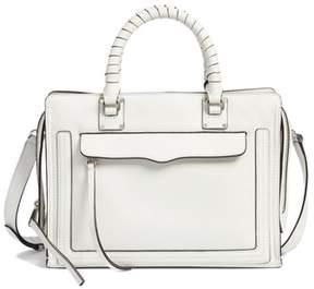 Rebecca Minkoff Medium Bree Leather Satchel - WHITE - STYLE