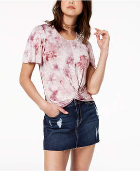 American Rag Juniors' Twist-Front Tie-Dyed Top, Created for Macy's