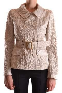 Geospirit Women's Beige Polyamide Trench Coat.
