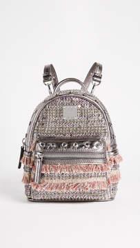 MCM Crystal Tweed Mini Backpack