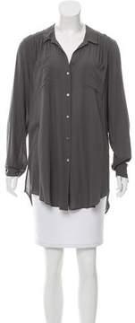 Calypso Oversize Button-Up Top