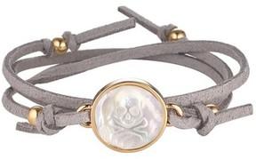Asha Women's Skull & Bones Suede Wrap Bracelet