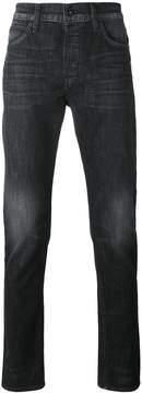 Hudson straight leg faded jeans