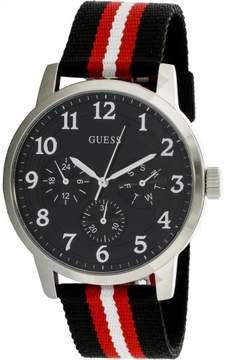 GUESS Men's U0975G1 Black Rubber Quartz Fashion Watch